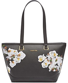 Janae Orchid Print Tote