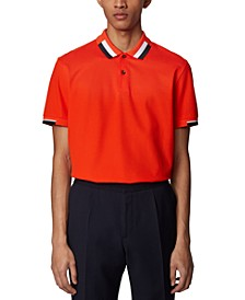 BOSS Men's Parlay 66 Bright Orange Polo Shirt