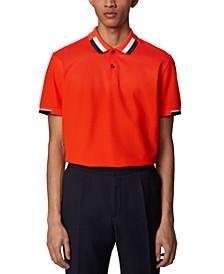 BOSS Men's Parlay 66 Bright Orange Polo Shirt