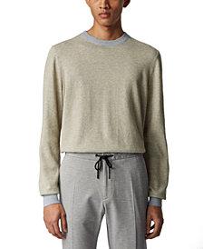 BOSS Men's Otimo Open Grey Sweater