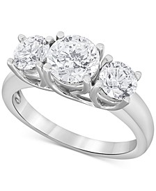 Diamond Trinity Engagement Ring (2-1/2 ct. t.w.) in 14k White Gold