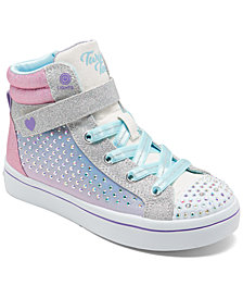 Skechers Little Girls' Twinkle Toes: Twi-Lites - Sparkle Burst Light-Up High Top Fashion Casual Sneakers from Finish Line