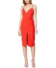 Ava Slit-Front Midi Dress