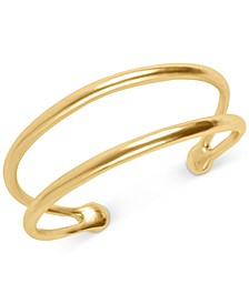 Gold-Tone Double-Row Cuff Bracelet
