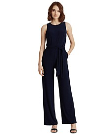 Belted Jersey Jumpsuit