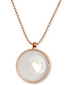 "Rose Gold-Tone Heart Pendant Necklace, 16"" + 2"" extender"