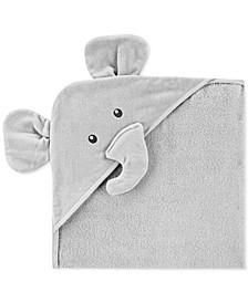 Baby Boy or Girl Hooded Cotton Elephant Towel
