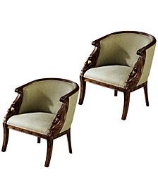 Due Cigno Tub Chair, Set of 2