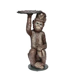 Moroccan Monkey Butler Pedestal Sculptural Table