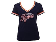 Women's Detroit Tigers Contrast Binding T-Shirt