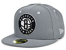 Brooklyn Nets Storm Black White Logo 59FIFTY Cap
