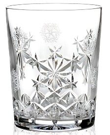 Waterford Drinkware, Snowflake Wishes for Goodwill Double Old Fashioned Glass