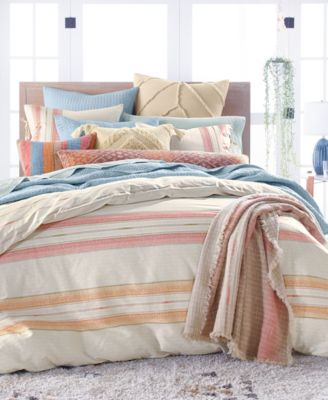 CLOSEOUT! Baja Stripe Cotton 230-Thread Count 3-Pc. Twin Sheet Set, Created for Macy's