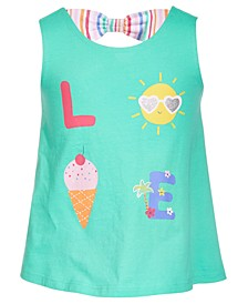 Toddler Girls Love Bow Back Cotton Top, Created for Macy's