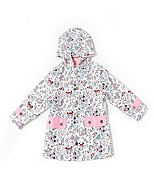 Toddler Girls Printed Microfiber Parka Jacket