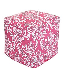 """French Quarter Ottoman Pouf Cube with Removable Cover 17"""" x 17"""""""