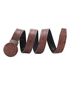 Men's Casual Wrinkled Leather Ratchet Belt
