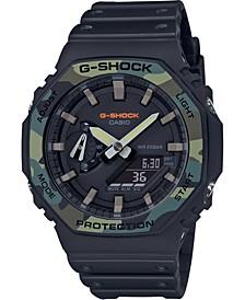 Men's Analog-Digital Gray Resin Strap Watch 45.4mm