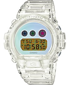 Men's Digital 25th Anniversary Clear Resin Strap Watch 50mm