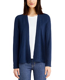 Cashmere Open-Front Cardigan, Regular & Petite Sizes, Created for Macy's