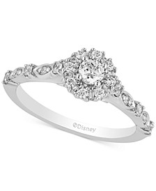 Enchanted Disney Diamond Cinderella Engagement Ring (1/2 ct. t.w.) in 14k White Gold
