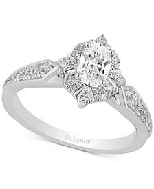 Enchanted Disney Diamond Elsa Engagement Ring (3/4 ct. t.w.) in 14k White Gold