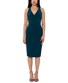 XSCAPE V-Neck Bodycon Dress