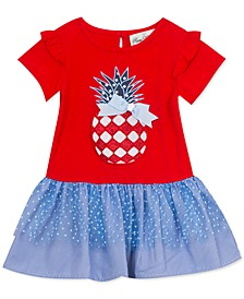 Baby Girls Red, White & Blue Pineapple Tutu Dress