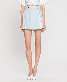 Short Box Pleated Skirt
