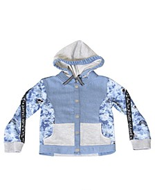 Toddler Boys Tie Dye Zip-Up Hoodie Jacket