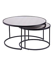 Huston Round Nesting Cocktail Tables 2 Piece Set