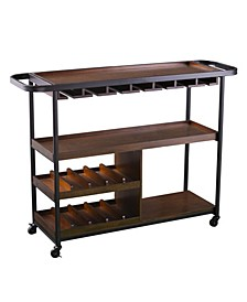 Emmet Rolling Wine Cart