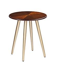 Genet Round Midcentury Modern End Table
