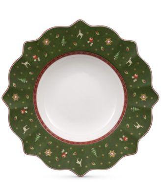 Toy's Delight Green Rim Soup Bowl