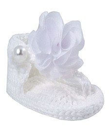 Baby Girls Crochet Thong Sandal with Flower