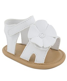 Baby Girls Double Strap Sandal with Flower