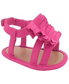 Baby Girls Shimmer Sandal with Fringe