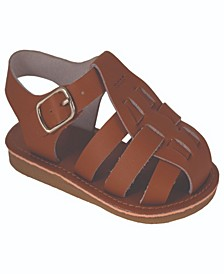Baby Girls Leather Fisherman Sandal