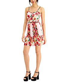 foxiedox Floral-Print Pleated Party Dress