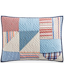 Americana Patchwork Quilted Standard Sham, Created for Macy's