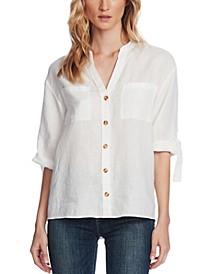 Linen Roll-Tab Shirt