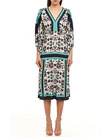 Nala Print Midi Dress