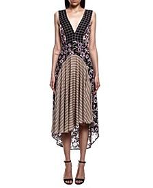 Mullet Print Midi Dress