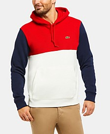 Men's Long Sleeve Cotton Pique and French Terry Colorblock Sweatshirt