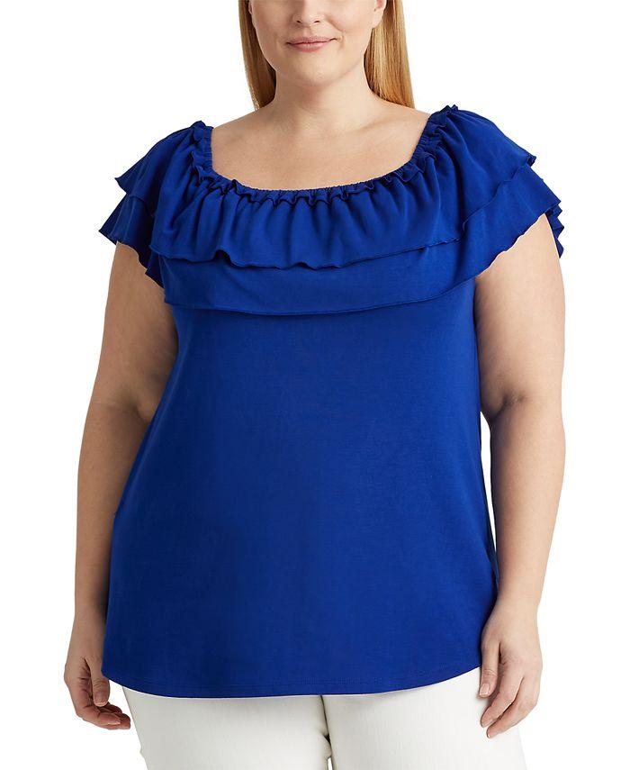 Lauren Ralph Lauren - Plus Size Off-The-Shoulder Top