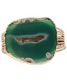 Agate Stone Multi-Row Cuff Bracelet