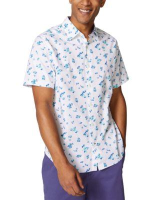 Nautica Mens Classic Fit Floral Print Button Down Shirt