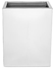Roselli Trading Company Polished Stainless Steel Modern Trash Can