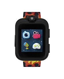 PlayZoom Black Smartwatch for Kids with Flames Print 42mm