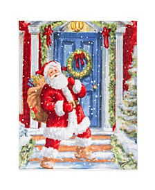 Inc Christmas Throw Santa At The Door
